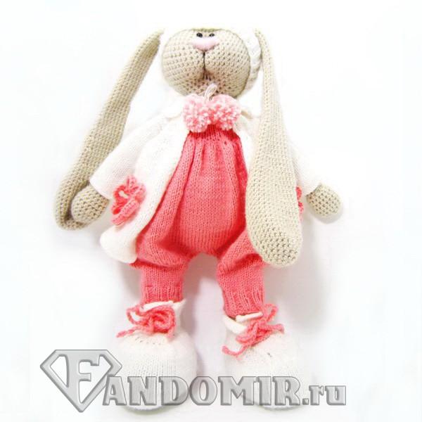 Вязаная игрушка Зайка Тильда купить в интернет-магазине ...