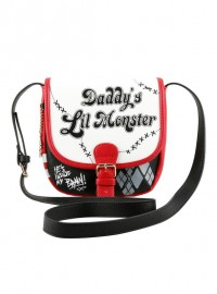 Сумка HARLEY QUINN. DC COMICS. SUICIDE SQUAD. DADDY'S LITTLE MONSTER. CROSSBODY PURSE