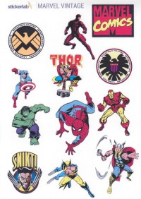 Стикер лист Stickerlab-Marvel Vintage