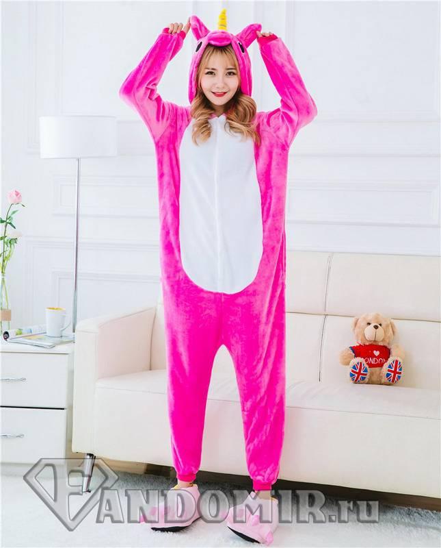 Кигуруми Единорог Розовый New купить в интернет-магазине FandoMir 7fc751945e99a