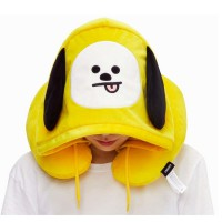 Подушка для путешествий BTS Chimmy с капюшоном BT21