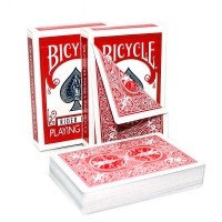 Карты для покера Bicycle Double Back Red (трюковые)