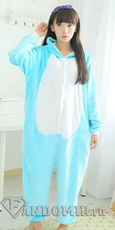 Кигуруми КОТ. Fairy Tail. Голубой с Белым. (Мех) купить в интернет ... cc769b13e40db