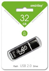 Флешка USB Smart Buy Glossy series Black (32Gb)