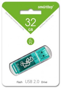 Флешка USB Smart Buy Glossy series Green (32Gb)