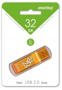 Флешка USB Smart Buy Glossy series Orange (32Gb)