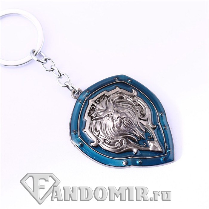 Брелок World of Warcraft. Щит Альянс (silver)