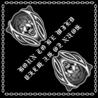 Бандана BORN TO BE WILD - Волк в кельте злой (ч/б)