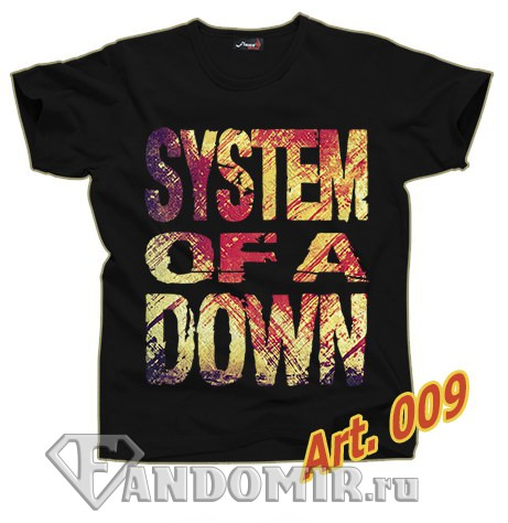 Футболка SYSTEM OF A DOWN (арт.009)